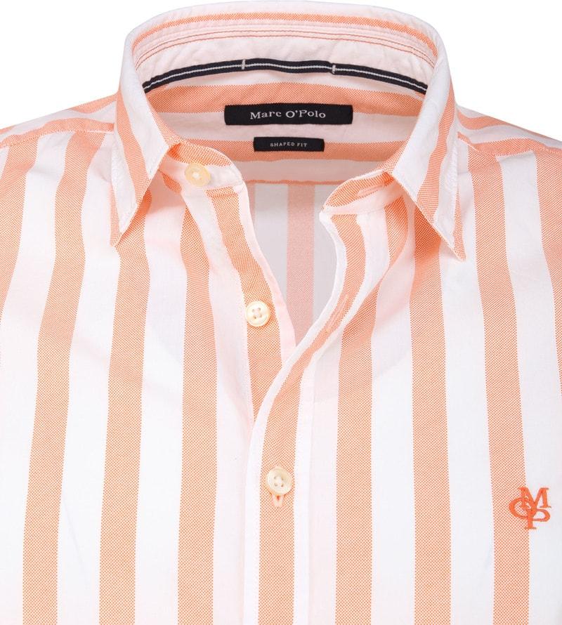 Marc O'Polo Overhemd Strepen Oranje foto 1