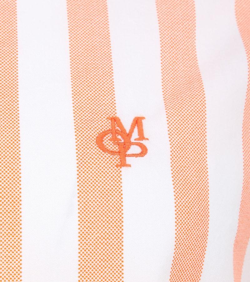 Marc O'Polo Overhemd Strepen Oranje foto 2