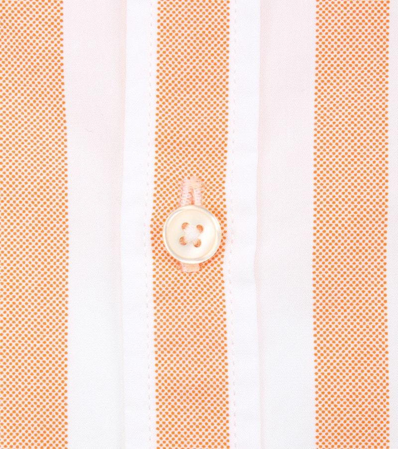 Marc O'Polo Overhemd Strepen Oranje foto 3