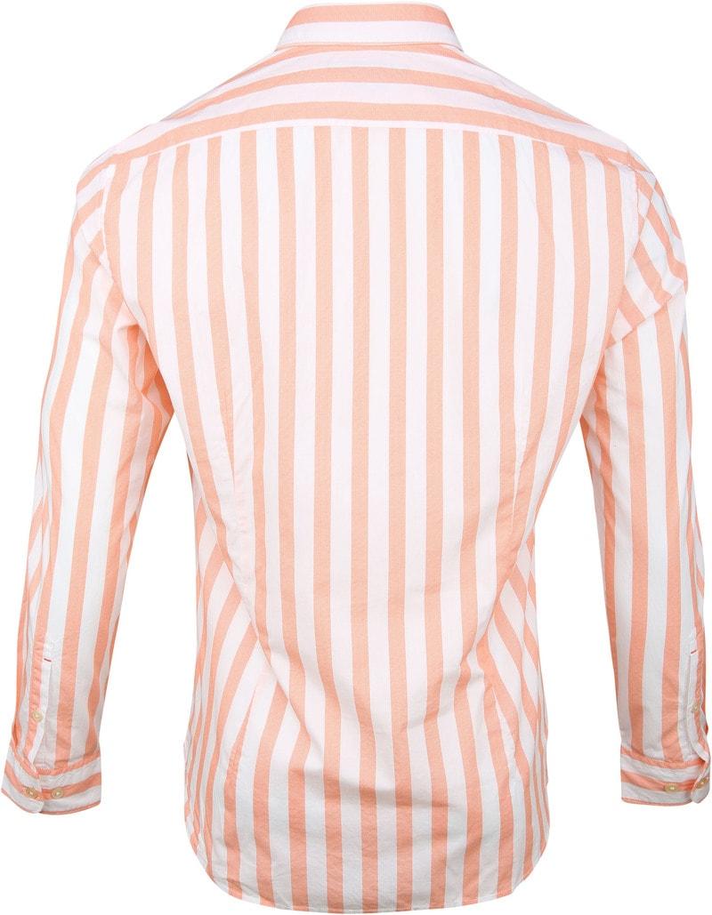 Marc O'Polo Overhemd Strepen Oranje foto 4