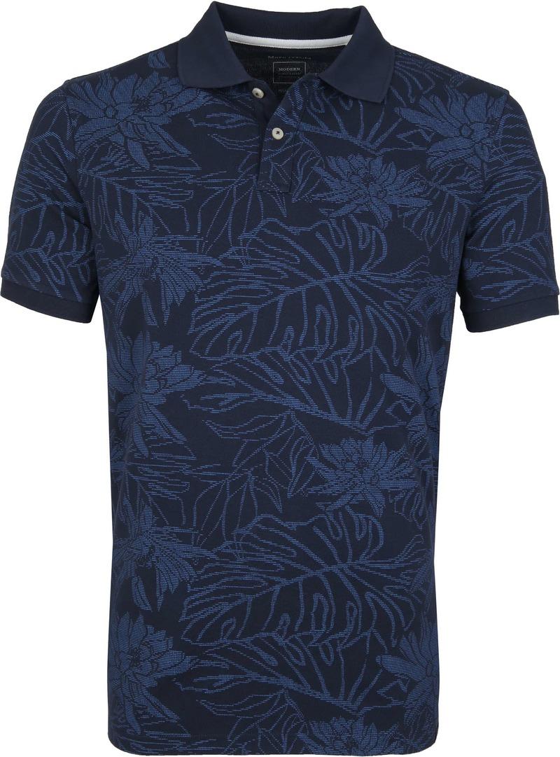 Marc O'Polo Poloshirt Dessin Navy