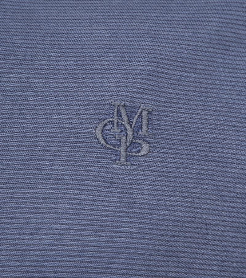Marc O'Polo Poloshirt LS Streifen Dunkelblau Foto 2