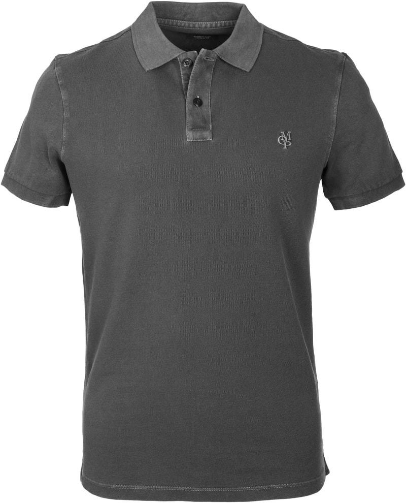 Detail Marc O\'Polo Poloshirt Uni Antraciet
