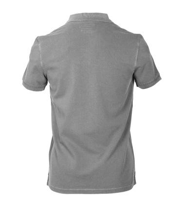 Detail Marc O\'Polo Poloshirt Uni Grijs