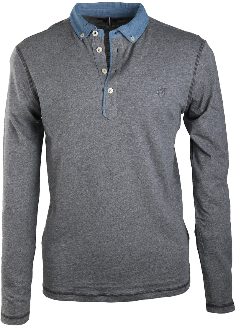 Marc O'Polo Rugby Polo Grijs  online bestellen | Suitable