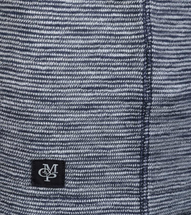 Detail Marc O\'Polo Sweater Blauw Streep