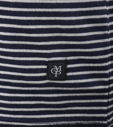 Detail Marc O\'Polo T-shirt Donkerblauwe Streep