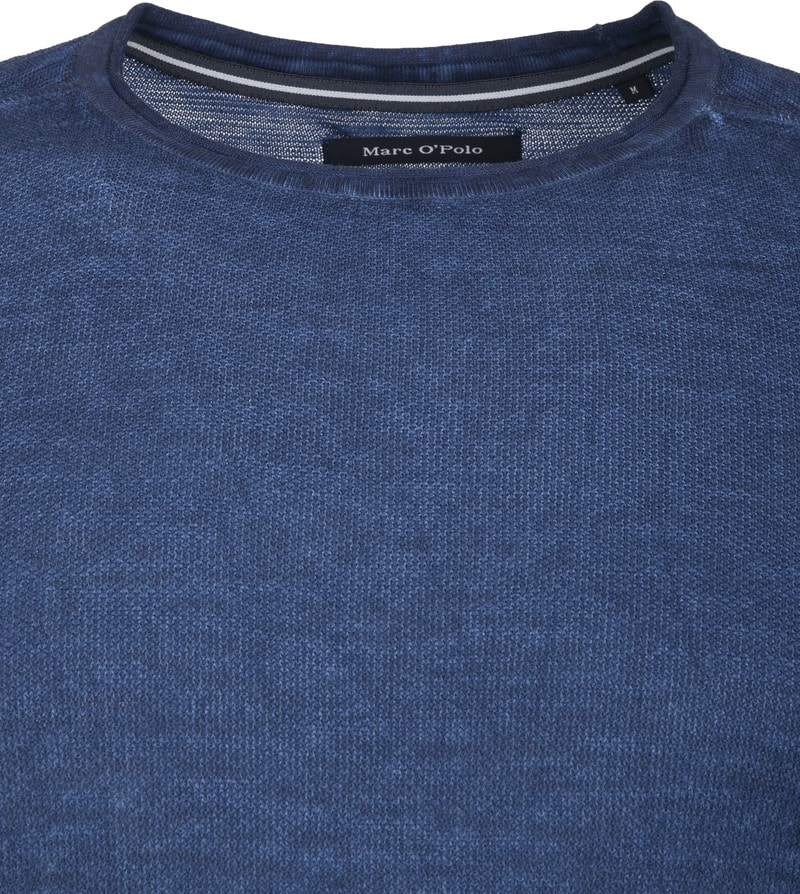 Marc O'Polo Trui Structured Donkerblauw foto 1