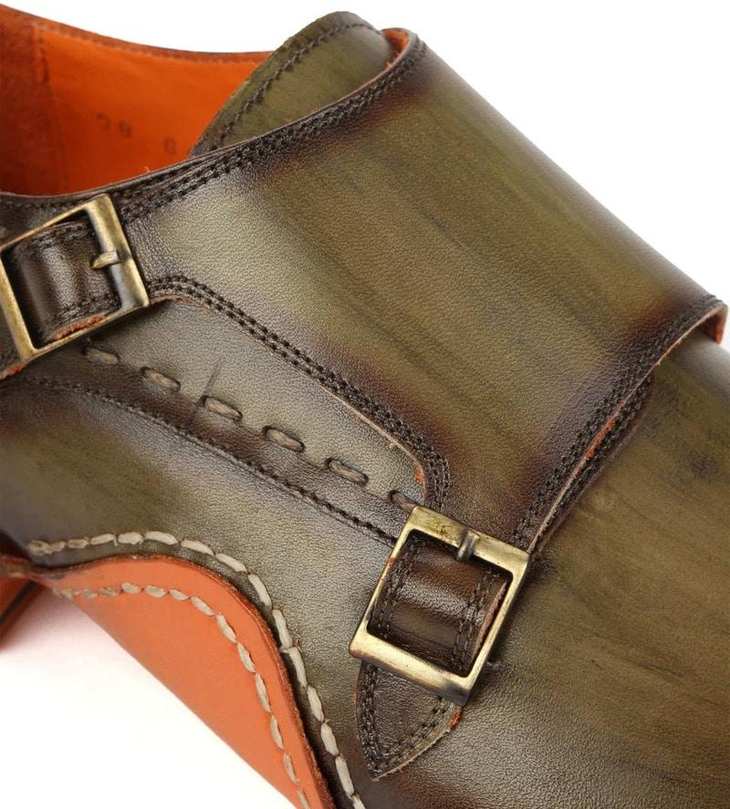 Melik Double Monk Strap Shoe Drago Green photo 1
