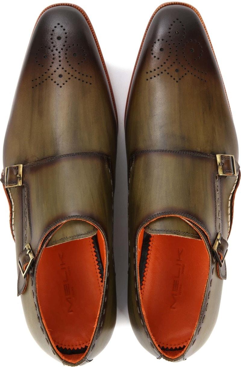 Melik Double Monk Strap Shoe Drago Green photo 2