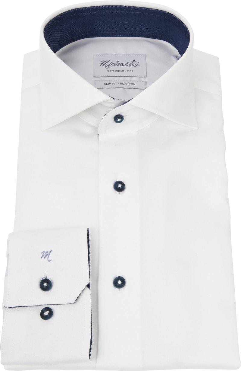 Michaelis Overhemd Non Iron Wit foto 2