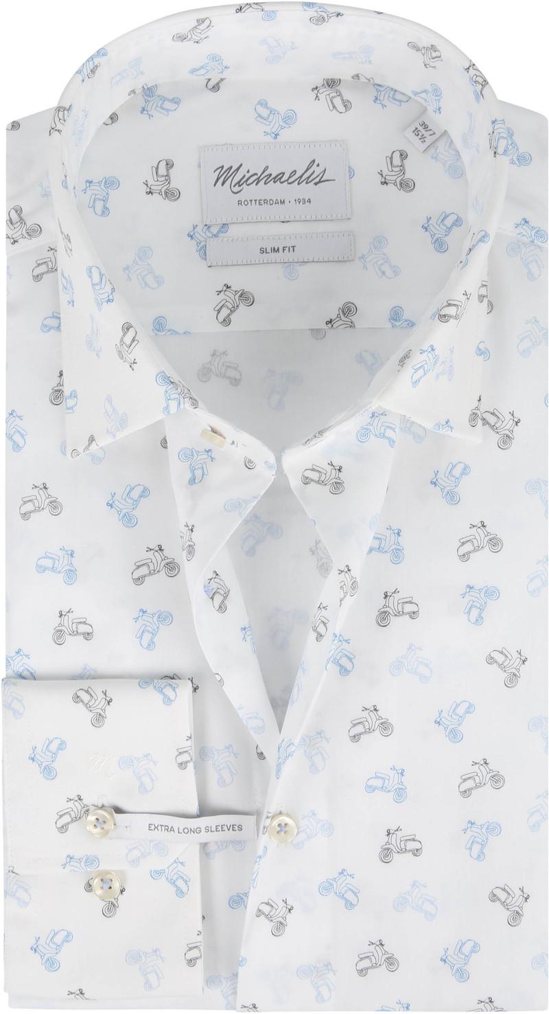 Michaelis Overhemd Poplin Scooter Wit SL7