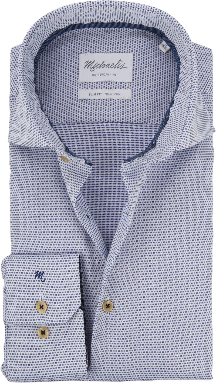 Michaelis Overhemd SF Wit/Blauw foto 0