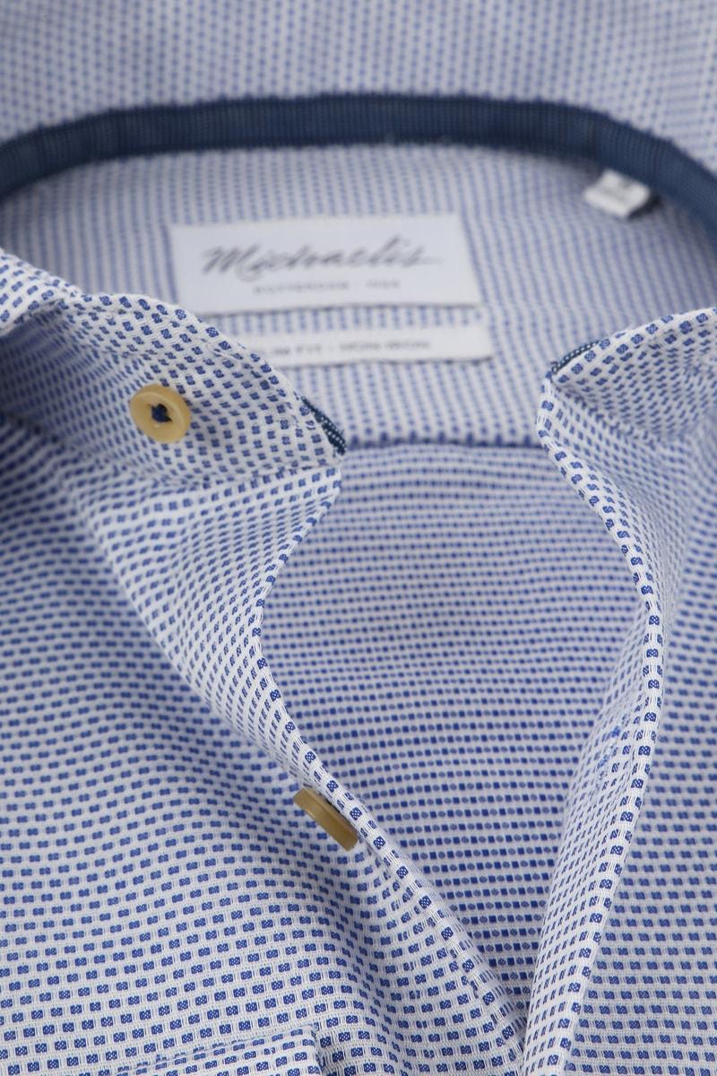 Michaelis Overhemd SF Wit/Blauw foto 1