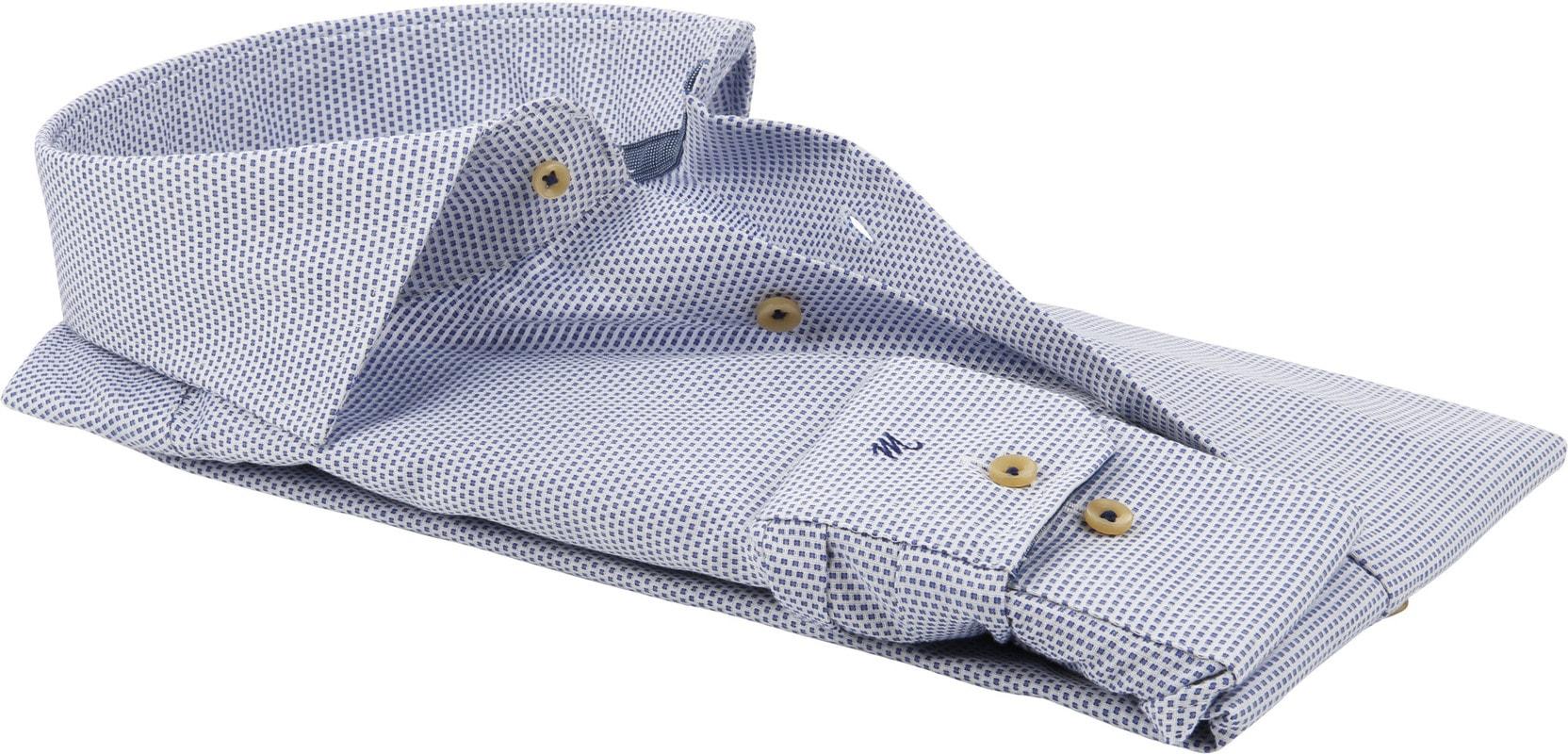 Michaelis Overhemd SF Wit/Blauw foto 3