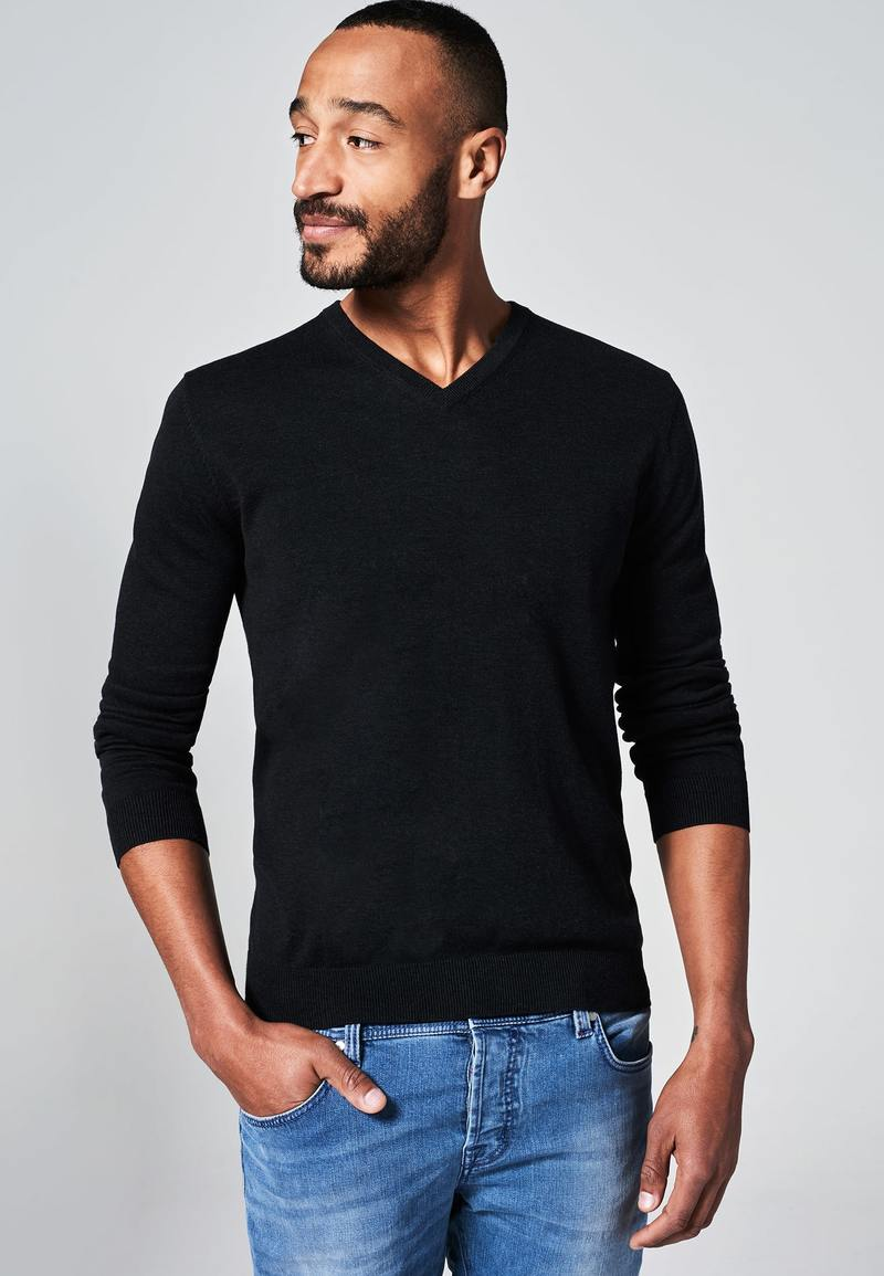 Michaelis Pullover V-Neck Black photo 3