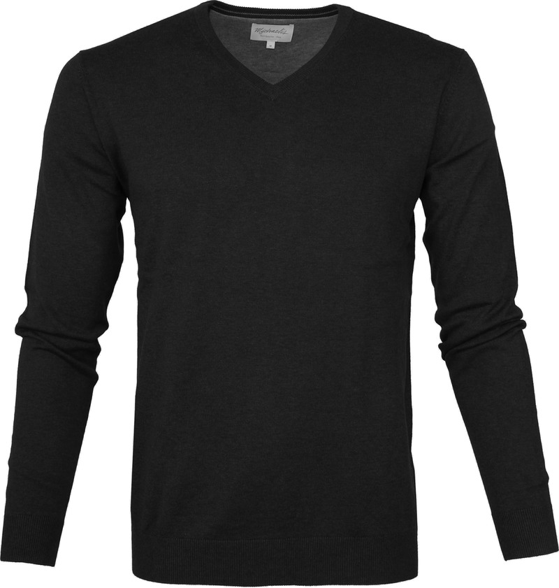 Michaelis Pullover V-Neck Black photo 0