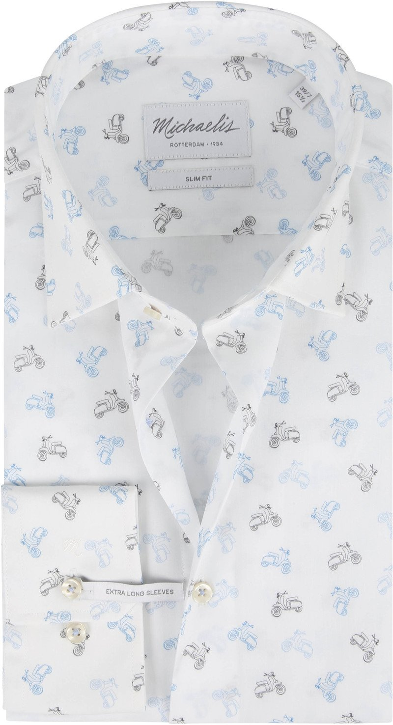 Michaelis Shirt Poplin Scooter White SL7