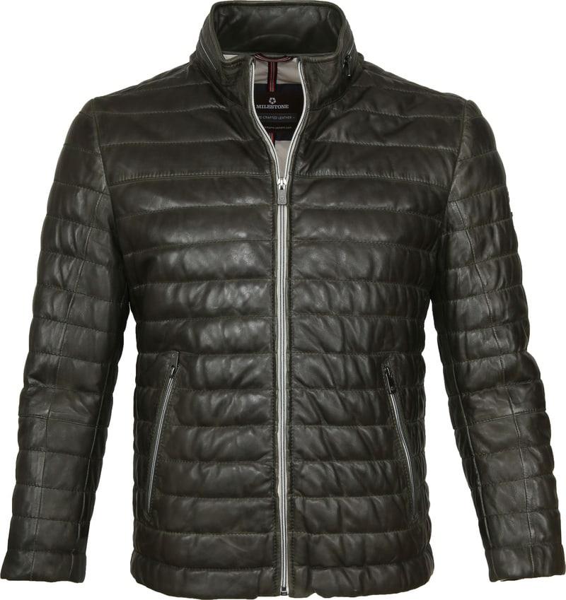 Milestone Tereno Leather Jacket Dark Green photo 0