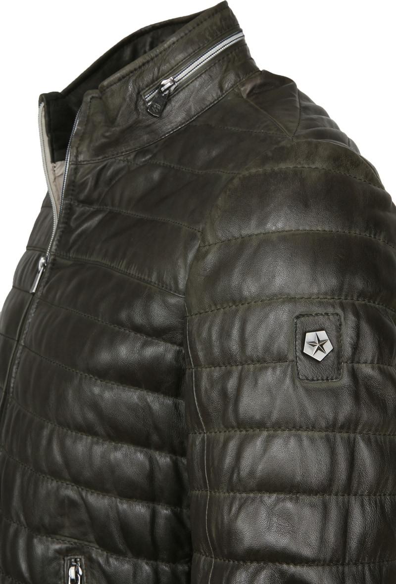 Milestone Tereno Leather Jacket Dark Green photo 1