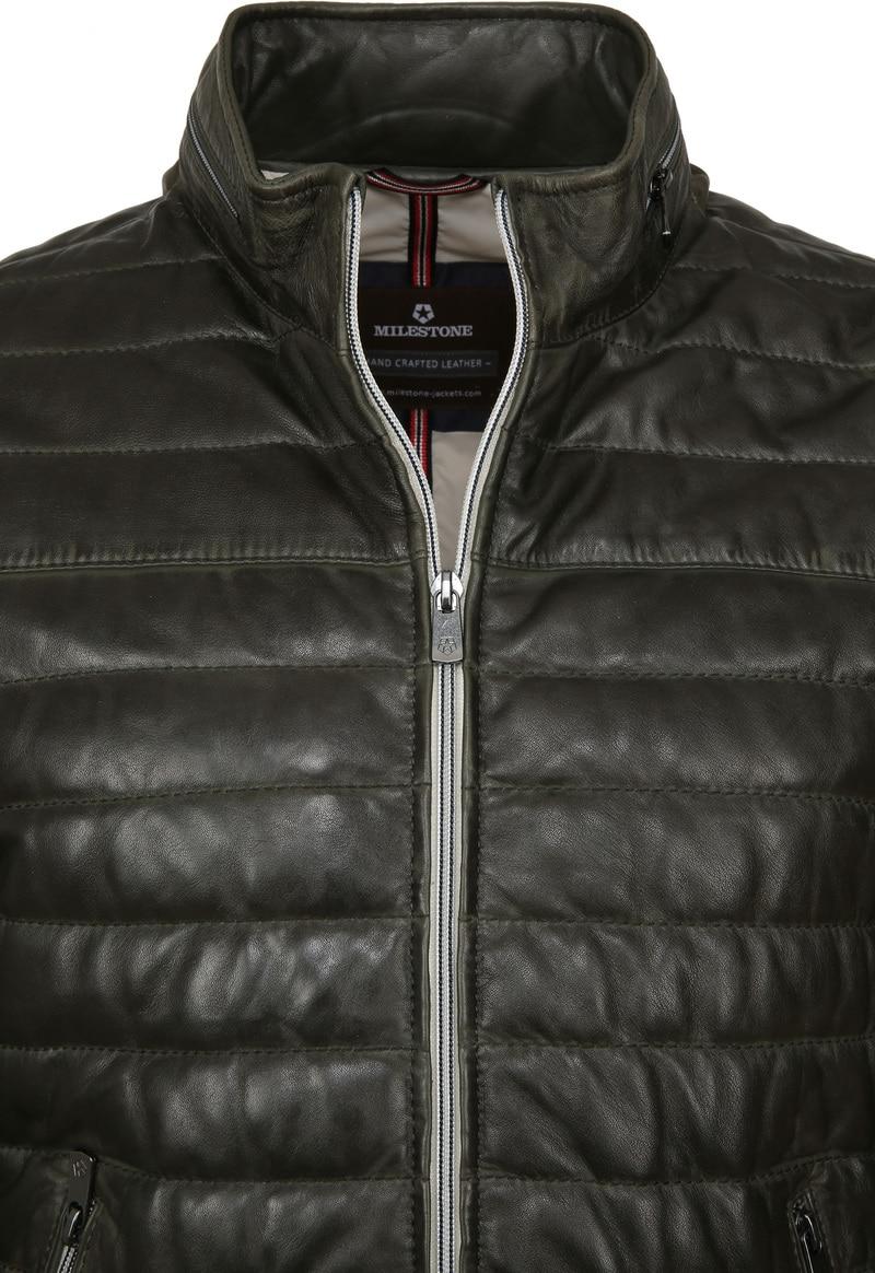 Milestone Tereno Leather Jacket Dark Green photo 2