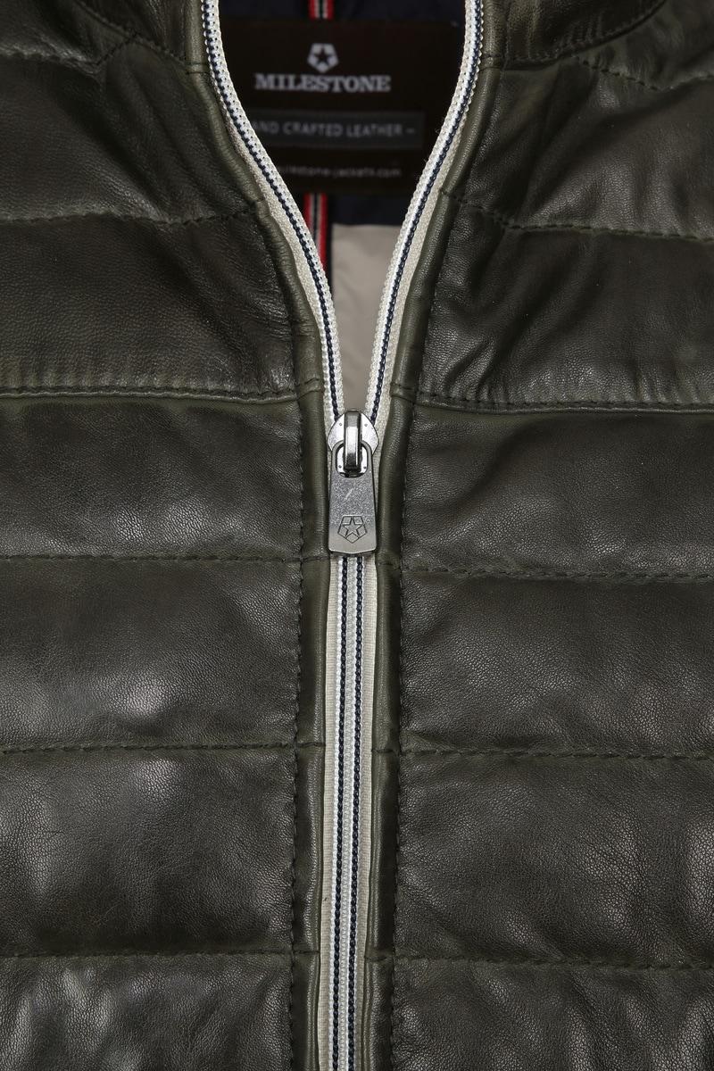 Milestone Tereno Leather Jacket Dark Green photo 3