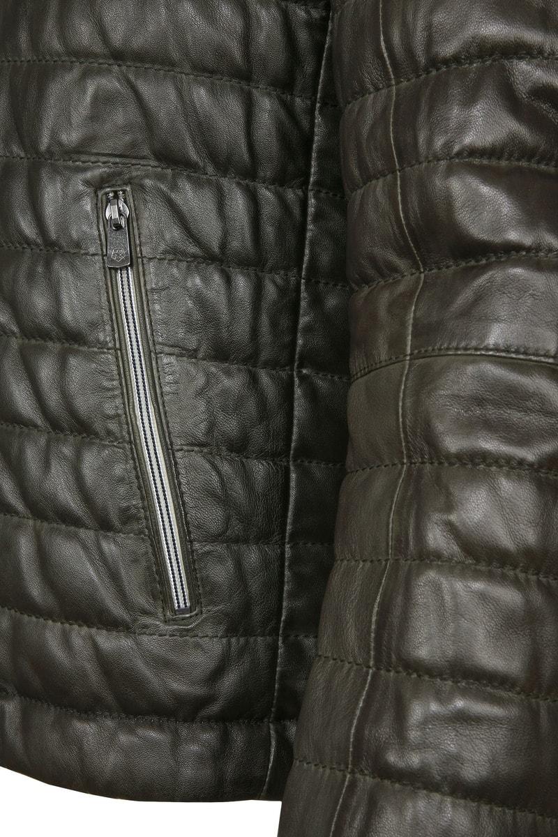 Milestone Tereno Leather Jacket Dark Green photo 4