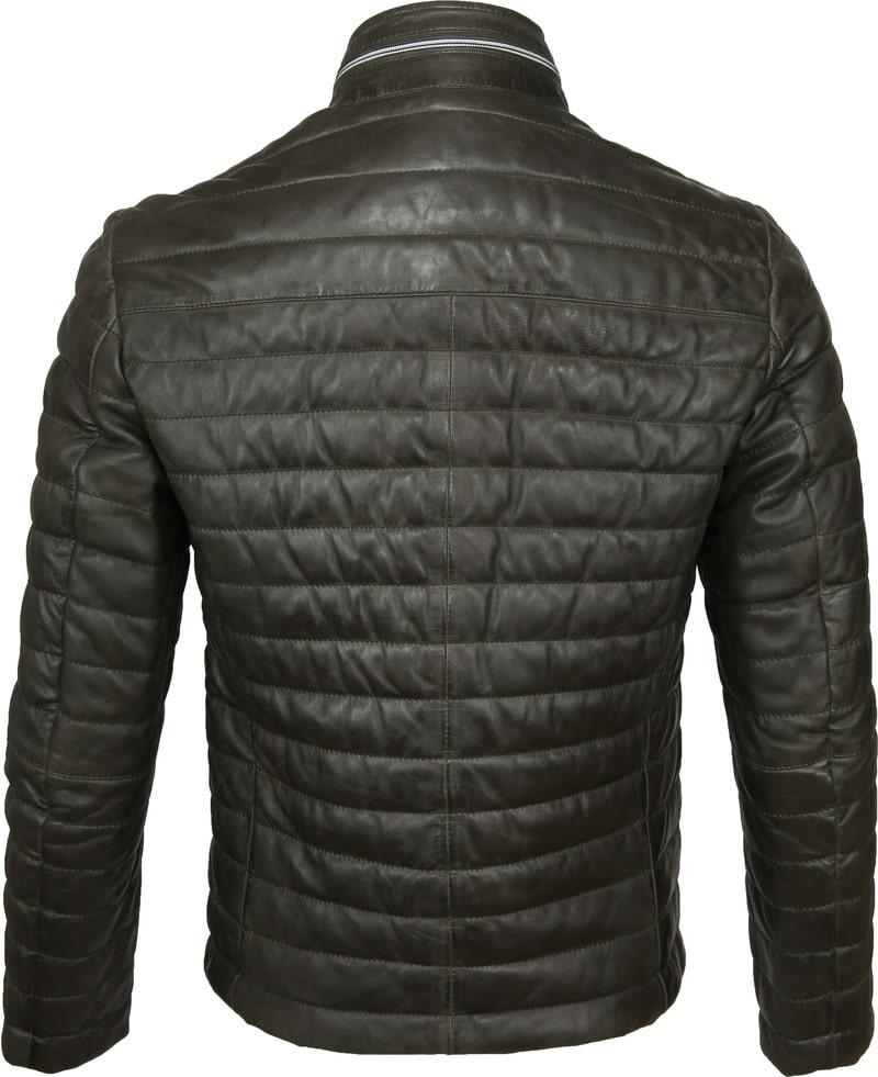 Milestone Tereno Leather Jacket Dark Green photo 5