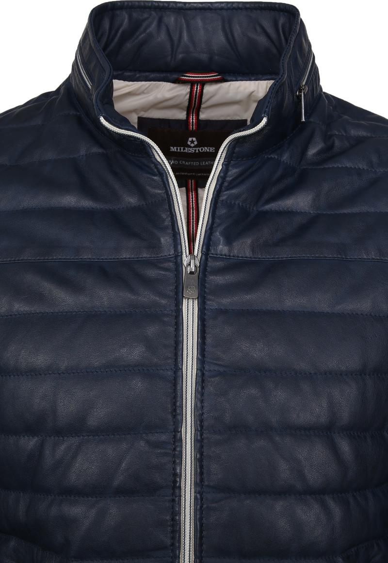 Milestone Tereno Leather Jacket Indigo photo 1