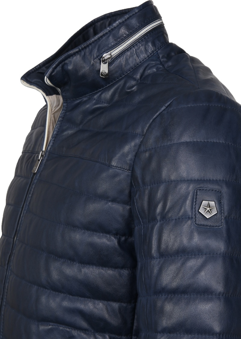 Milestone Tereno Leather Jacket Indigo photo 2