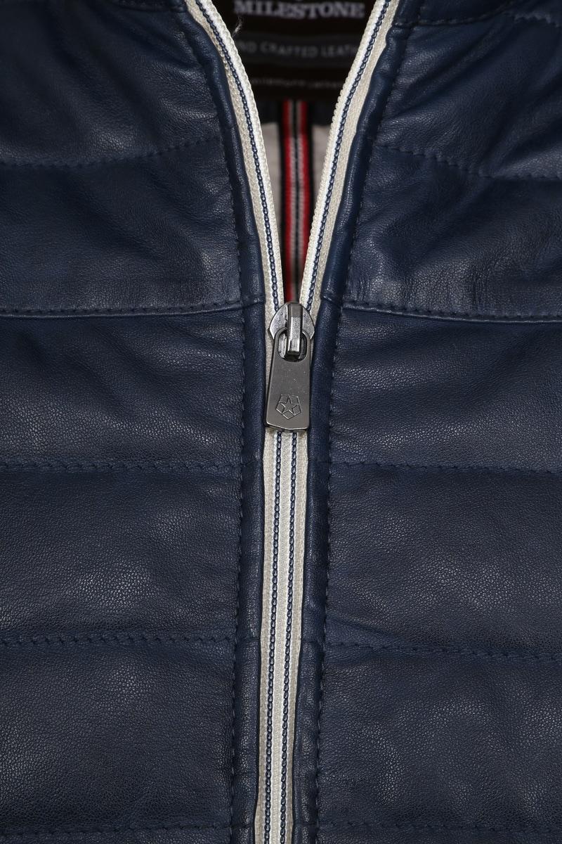 Milestone Tereno Leather Jacket Indigo photo 3
