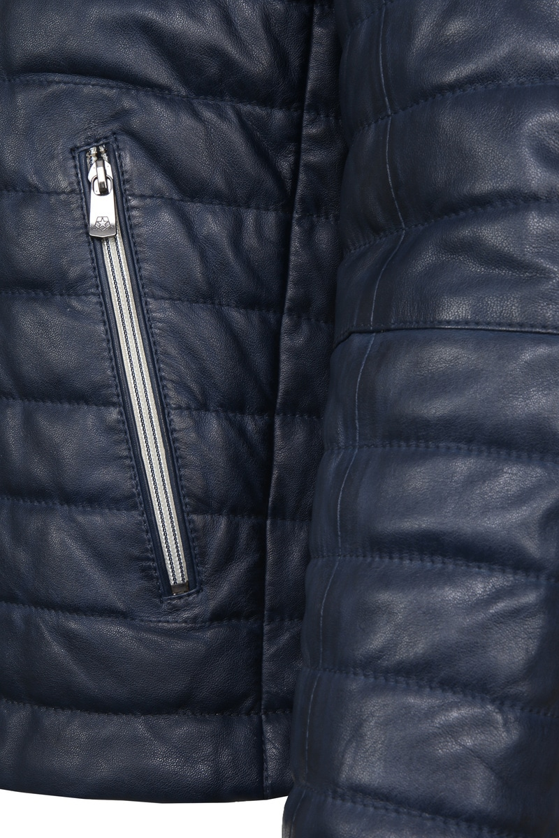 Milestone Tereno Leather Jacket Indigo photo 4