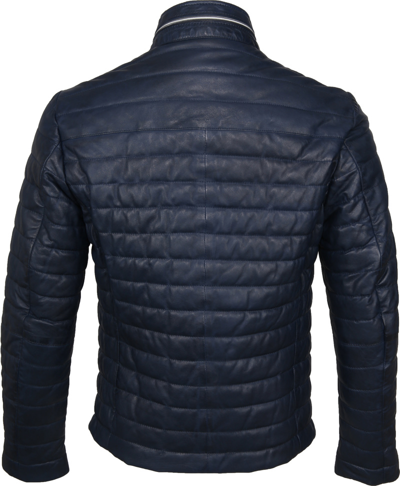 Milestone Tereno Leather Jacket Indigo photo 5