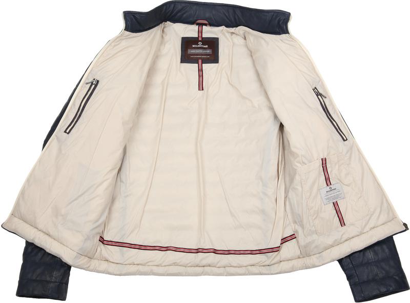 Milestone Tereno Leather Jacket Indigo photo 6