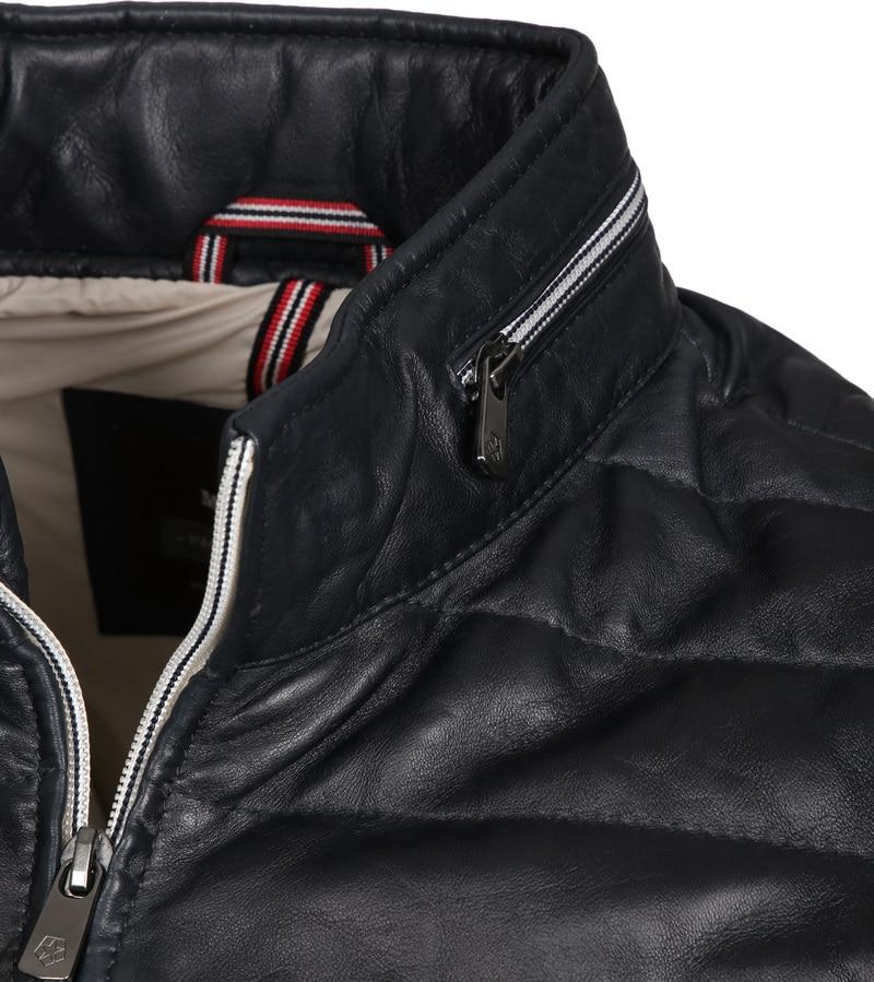 Milestone Tereno Leather Jacket Navy Grey photo 2