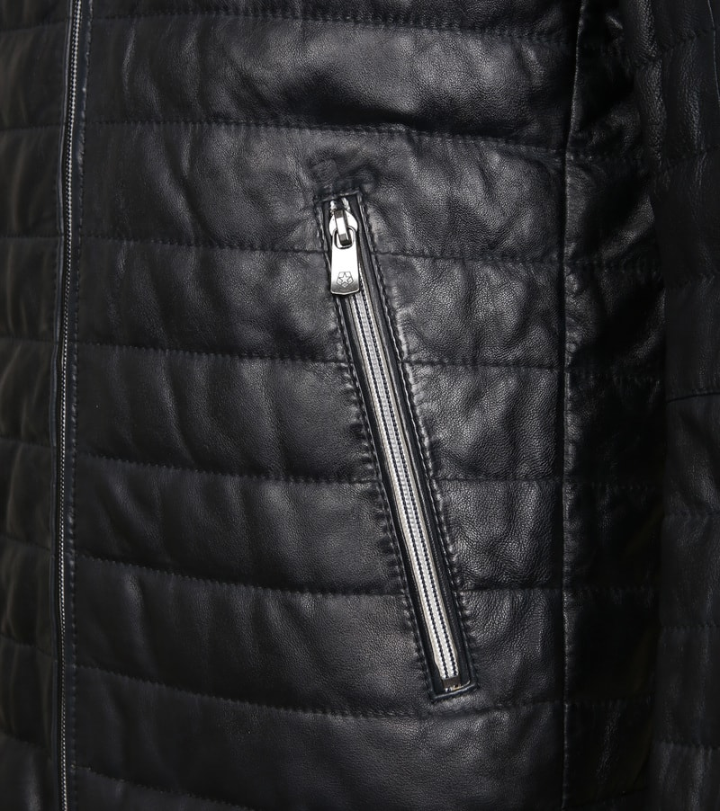 Milestone Tereno Leather Jacket Navy Grey photo 4