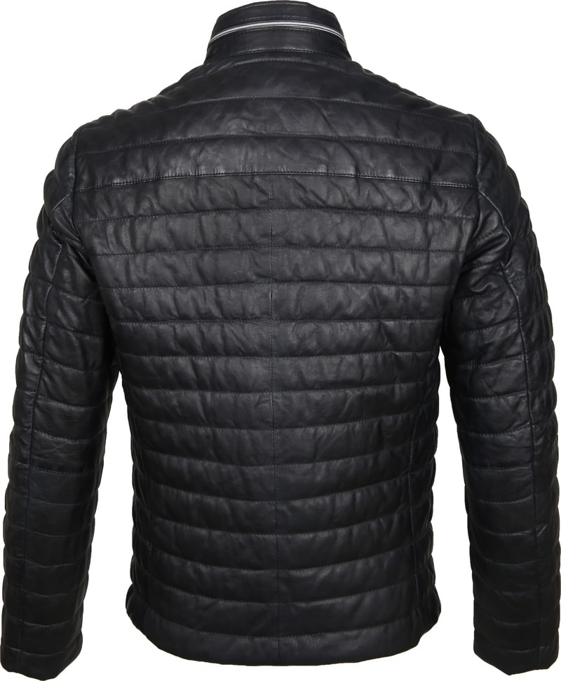 Milestone Tereno Leather Jacket Navy Grey photo 5