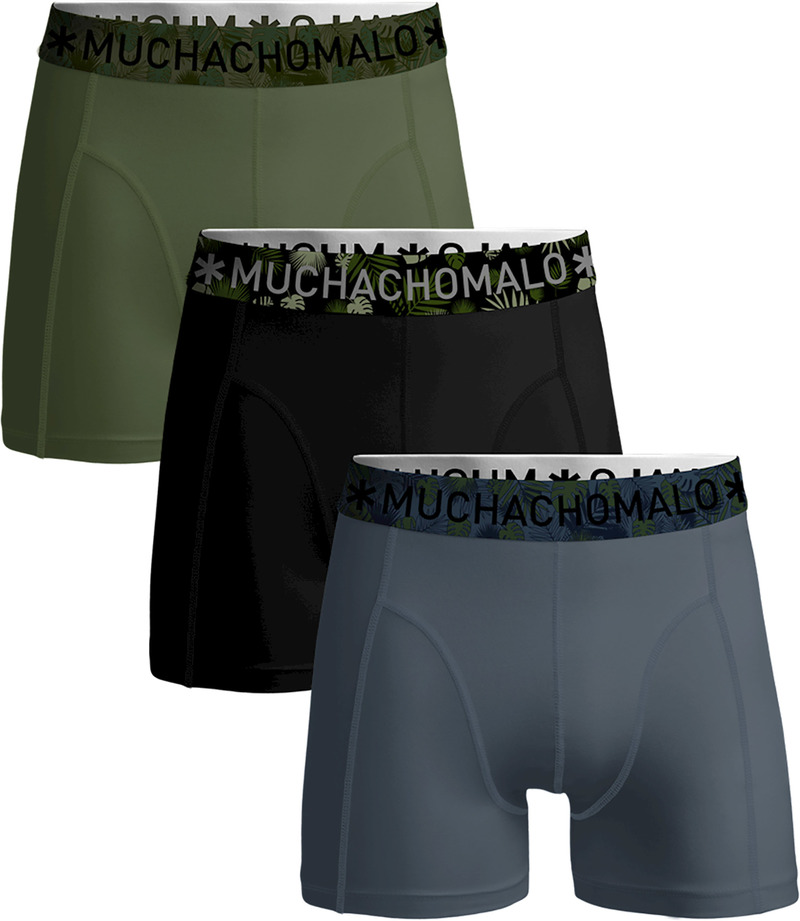 Muchachomalo Boxershorts Solid 346 3-Pack