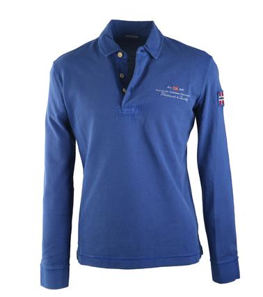 Napapijri Longsleeve Poloshirt Elbas Blauw  online bestellen | Suitable