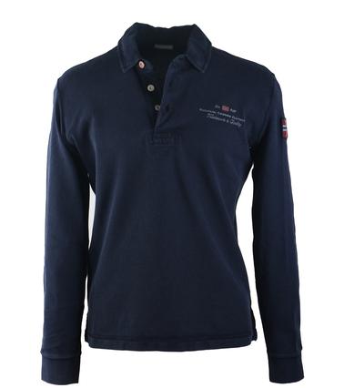 Napapijri Longsleeve Poloshirt Elbas Donkerblauw  online bestellen | Suitable