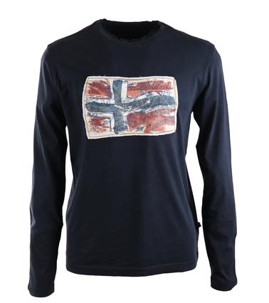 Napapijri Longsleeve T-shirt Donkerblauw  online bestellen | Suitable