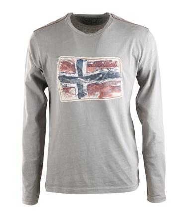 Napapijri Longsleeve T-shirt Grijs  online bestellen | Suitable