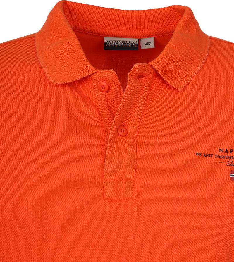 Napapijri Polo Elbas 3 Oranje foto 1