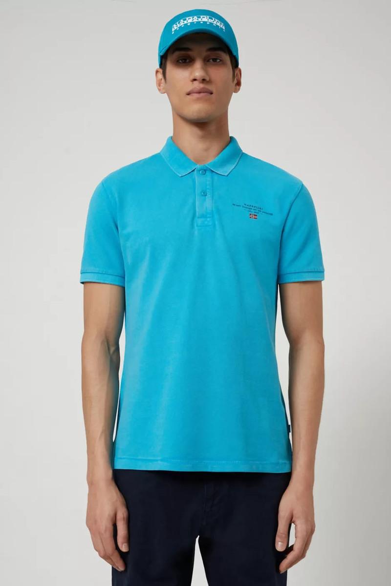 Napapijri Poloshirt Elbas 3 Turquoise photo 4