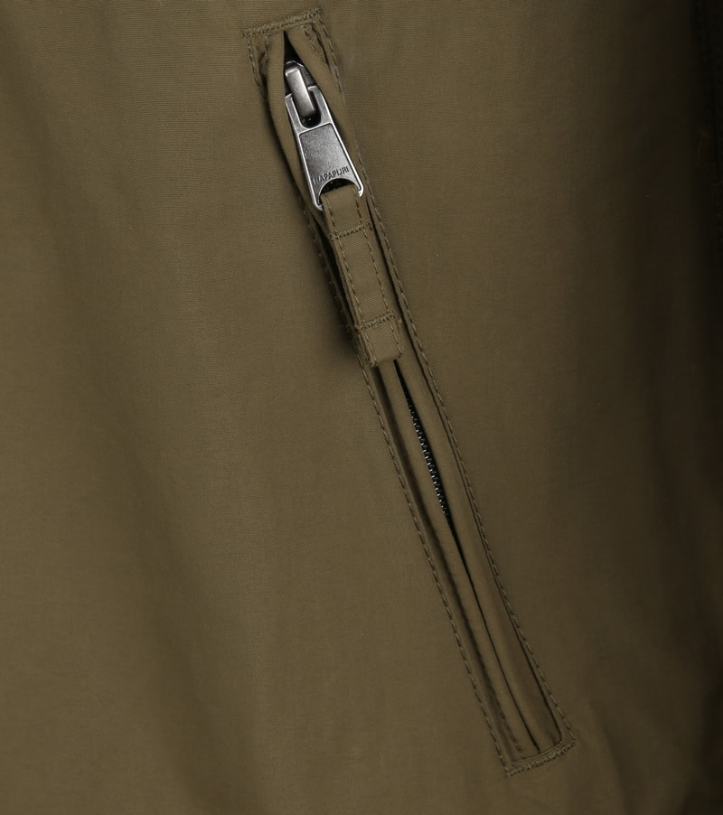 Napapijri Rainforest Pocket Jas Army foto 4