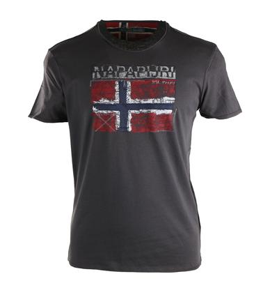 Napapijri Surl Tshirt Donkergrijs  online bestellen | Suitable