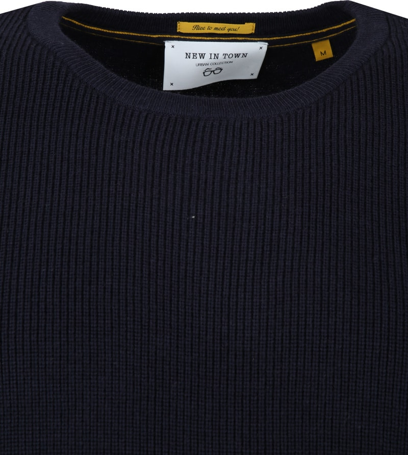 New In Town Pullover Navy foto 1
