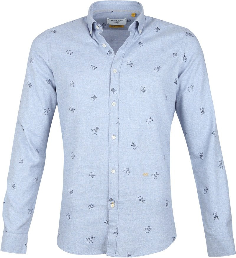 New In Town Shirt Dessin Blue photo 0