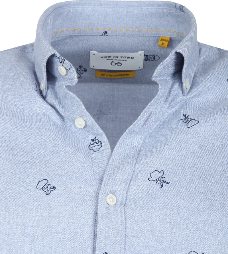 New In Town Shirt Dessin Blue photo 1