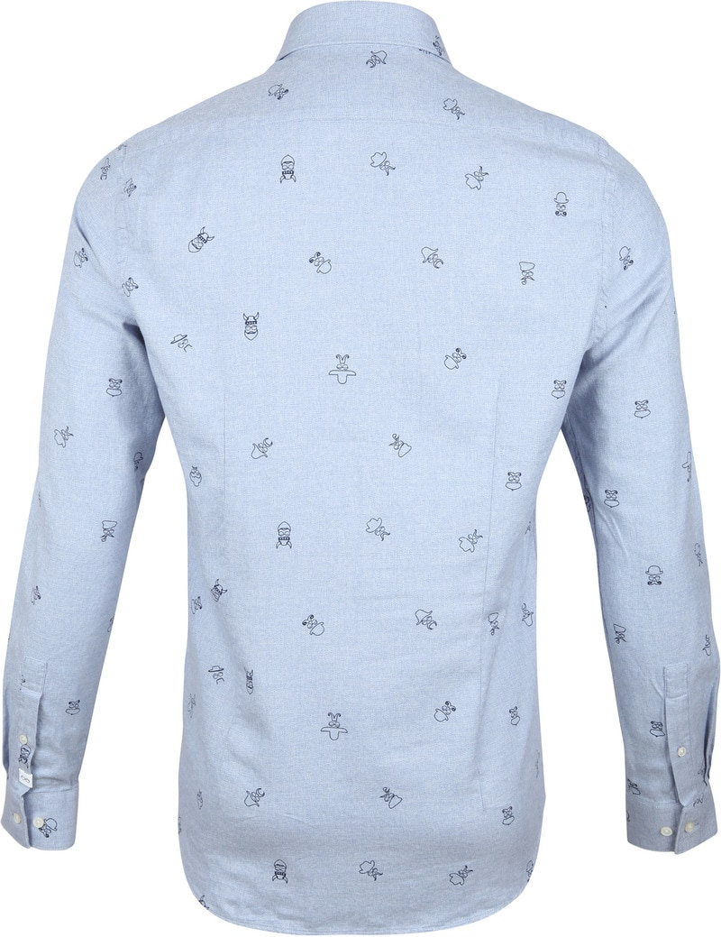 New In Town Shirt Dessin Blue photo 4